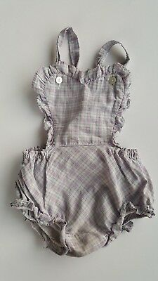 Vintage JC Pennys heart romper plaid baby girl 12 to 18 months toddler