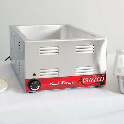"Avantco W50  12"" x 20"" Full Size Electric Countertop Food Warmer 120V, 1200W"