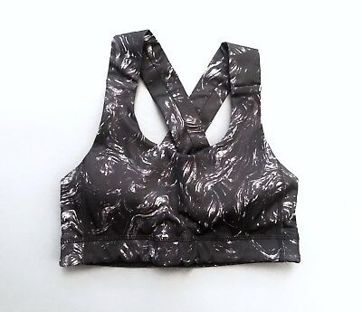 233966a20b Lululemon Energy Yoga workout Sports Bra Prism Camo Black White Size 2  Small S