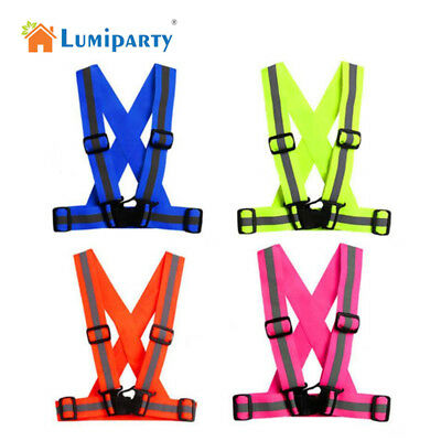 Reflective Vest Harness High Visibility Running Walking Cycling Sport Safety AU