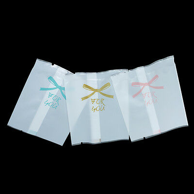 Matt Clear White Cellophane Plastic Bag Wedding Favor Candy Cookie Packing Pouch
