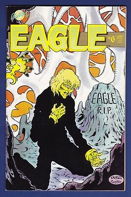 Eagle #6  Crystal Pub 1987  1st Adam Hughes Pro work