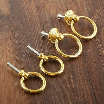 Antique Gold Cabinet Pull Drop Ring Drawer Knobs Jewelry Box Door Pull Handles