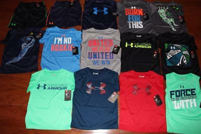 Lot Of 14 Under Armour Heatgear Toddler Boys Shirts Ua Shorts $250+ Size 4 Nwt