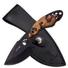 Elk Ridge Fixed Blade Knife Drop Point Knife Hunting Full Tang Camo ER528CA