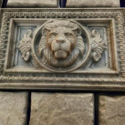 "Concrete Mold Kit Lions Head and 10pcs 6""x12"" Tumbled Stone"