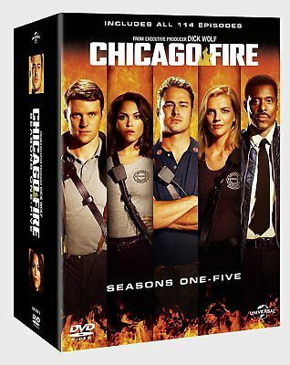 CHICAGO FIRE Season 1-5 Box Set DVD Complete Series 1 2 3 4 5 NEW R4