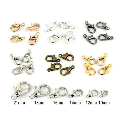 100Pcs DIY Lobster Clasps Trigger Claw Connector  fit Jewelry Chain Bracelet AU