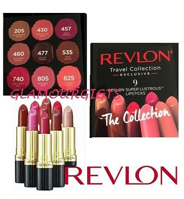 Revlon 9 Super Lustrous LipsticksThe Collection Lip Cube
