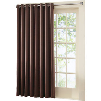 Multipurpose Gramercy Patio Door Curtain Panel With Wand, Single Pannel