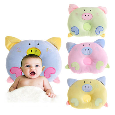 Baby Infant Newborn Pillow Prevent Flat Head Neck Support Cotton Anti Roll NEW