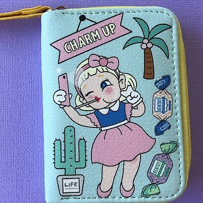 RETRO VINTAGE STYLE COIN PURSE/ CUTE GIRL ROCKABILLY 50's