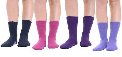 Women Girls Winter Soft Warm Thermal Gripper Slipper Socks Bed Sock UK Size 4-8