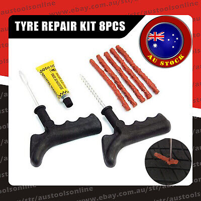 Motorcycle Bike Car Tubeless Tyre Puncture Repair Kit Tire Emergency Tools Kit