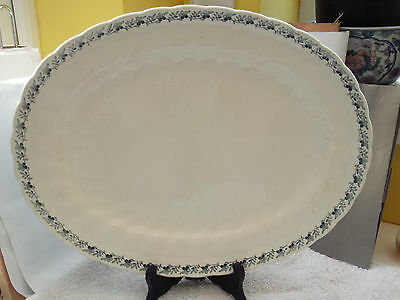 1914 Very Large Oval Minton Platter With A Blue Floral  Pattern