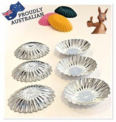 x6 PACK BUDGET METAL INDIVIDUAL MOULDS~SOY WAX TART/MELT/CANDLE+CHOC MAKING