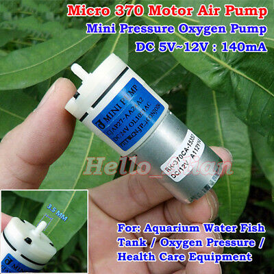 DC 5V~12V 6V 9V Mini Mute 370 Motor Air Oxygen Pump DIY Water Aquarium Fish Tank