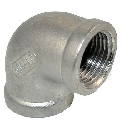 "1/2"" BSPT 90degree angled Pipe Fitting 304 Stainless Steel Elbow Female Threaded"