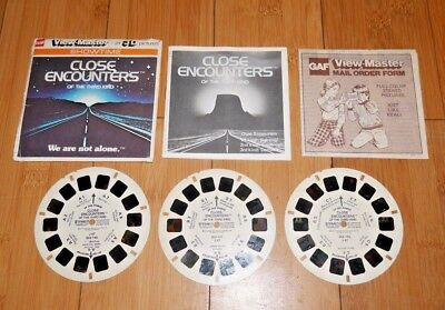 Close Encounters Of The Third Kind Viewmaster Reels Set J47 Rare 1977   (A137)
