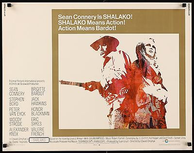 SHALAKO -  original film / movie poster (half sheet) - Connery, Bardot