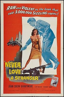 NEVER LOVE A STRANGER original film / movie poster poster