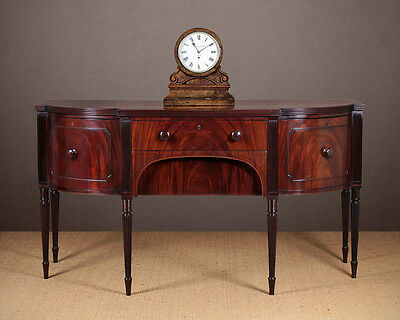 Antique George III Mahogany Bow Front Serving Sideboard c.1800