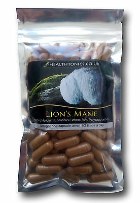 Lion's Mane Extract (10:1 equivalent to 4,000mg ), 30 - 90 Vegetarian Capsules
