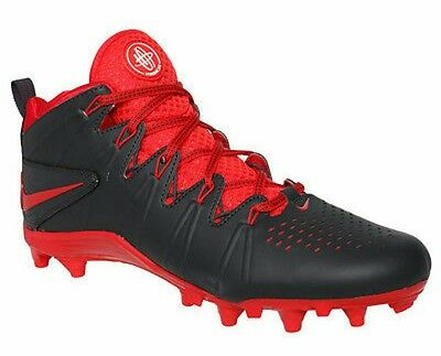 Nike Huarache 4 LAX LE LaCrosse Cleats Man US 9.5 Anthracite Red 616296-060 NEW