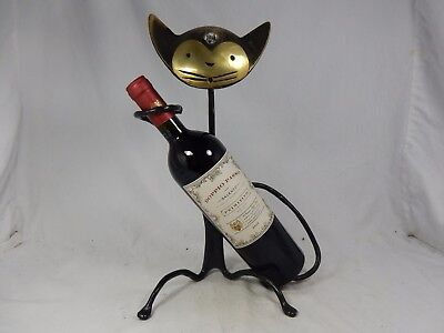 Rare big Walter Bosse Design Katzen Flaschenhalter / cat bottle stand 35 cm