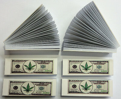 $100 Dollar Note Design Roach Filter Tips  6 Books -300 Roaches, Best Price !!!