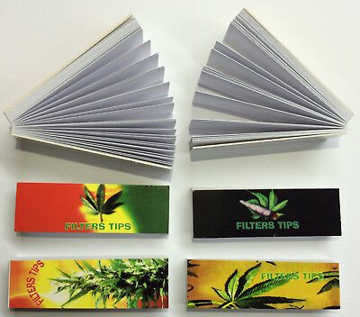 20 Roach Booklets Leaf Printed 1000 Roaches Tips Filter Books