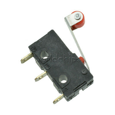 5PCS KW12 KW12-3 Micro Roller Lever Arm Normally Open Close Limit Switch 5A