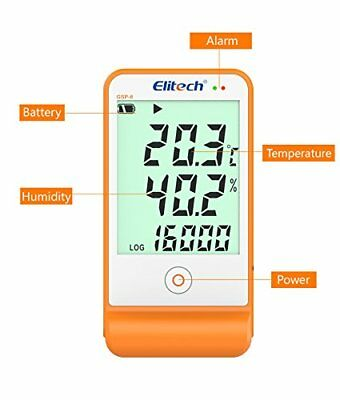 Elitech GSP-6 Temperature and Humidity Data Logger Recorder 16000 Point s Refrig