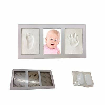 Decor Hut Baby keepsakes photo frame with 2 packs of clay to imprint hand and fo