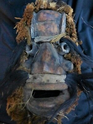 """orig $499- GUERE FETISH MASK!! EARLY 1900S REAL 15"""" PROV."""