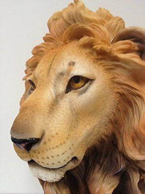 Large Lion Head Bust - King of the Jungle Statue Sculpture, New