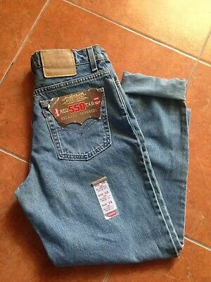 AUTHENTIC Levis 550 USA MADE Relaxed Fit HIGH WAIST MOM Jeans SZ 13 S W31 L29