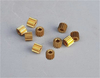 10pcs Metal Gear spindle Copper gear 14 teeth 2mm id 0.3 Modulus DIY motor
