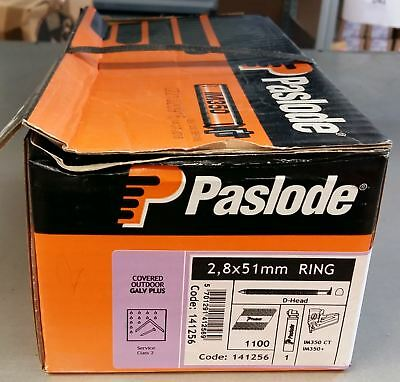 Paslode Galv Plus Ring Handy Pack 2.8x51mm Box of 1100 Nails & 1 Fuel Cell