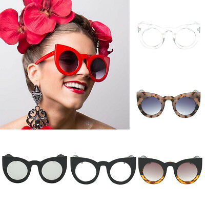 Women Fashion Vintage Retro Cat Eye UV400 Sunglasses Eyewear Shades Eye Glasses