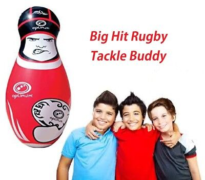 Red Big Hit Rugby Tackle Buddy Double Sided Inflatable Rotatable Fun Training