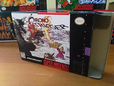 Chrono Trigger Box Only, SNES Replacement Art Case/Box !!! COMPLETE YOUR GAME!