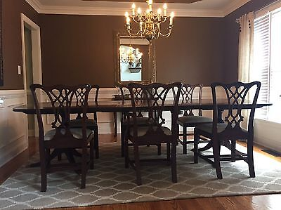 Henkel Harris Mahogany Dining Room Table and Chairs - Freight or pickup (NC)