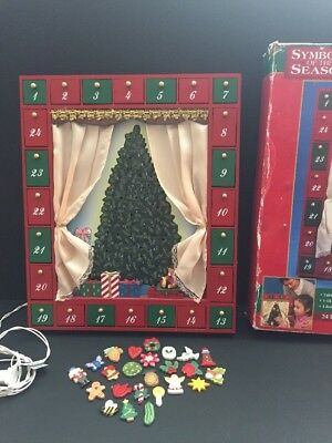 Symbols Of The Season Lighted Magnetic Advent Xmas Calender Kurt Adler