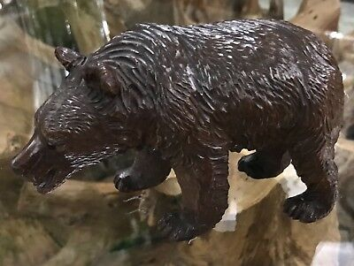 Beautiful Antique Vintage Hand Carving of a Black Forest Swiss Bear