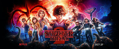 "Stranger Things Season 2 Banner Poster 51x21"" TV Series Art Silk"