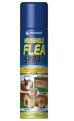 6 x FLEA SPRAY 200 ML KILL FLEA & LARVAE FOR CAT DOG PETS BED CARPET HOME