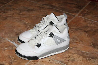 Jordan White Cement 4s Preowned Nike Air Size 7 7y No Separation No Crumbling