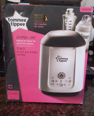 Tommee Tippee Pump and Go 3-in-1 Pouch and Bottle Warmer, Used