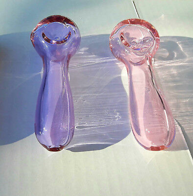 """4"""" Collectible Tobacco Pipe - Blue / Purple / Pink / Not Glass Alternative"""